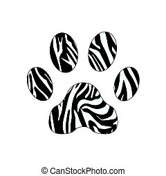 Paw Prints. Logo. Vector Illustration. Isolated vector Illustration. Black on White background. EPS Illustration. eps10