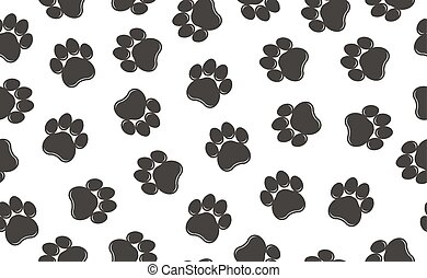 Paw prints pattern. Vector