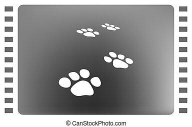 Paw prints vector icon