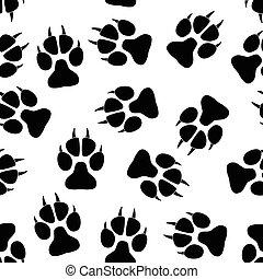 Paw seamless pattern