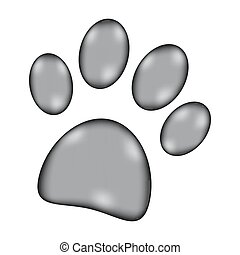 Paw sign icon.