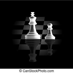 pawn and king - pawn and a king, as the concept of the guide...