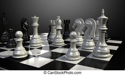 Pawn chess fall down animation. - Put the pawn on a...
