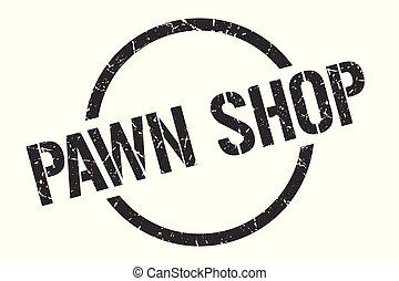 pawn shop stamp - pawn shop black round stamp