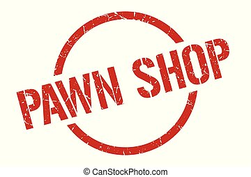 pawn shop stamp - pawn shop red round stamp