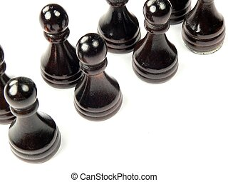 Pawns as Employees - a group of pawns representing empoyees...
