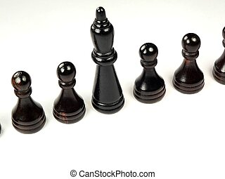 Pawns as Employees - a group of pawns representing employees...