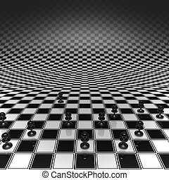 Pawns on a chessboard - Set pawns on a chessboard infinitely...