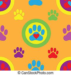 Pawprint Seamless Pattern