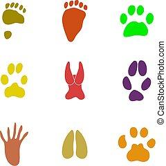 pawprint shapes