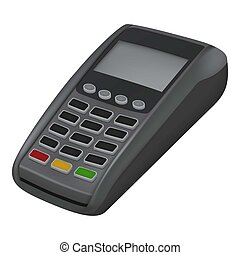 Pay credit card icon, realistic style - Pay credit card...