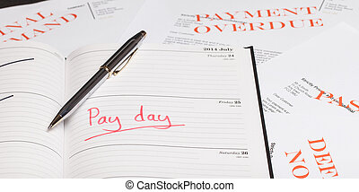 Pay day loan concept shot