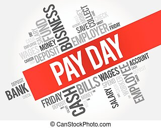 pay day word cloud concept angled pay day word cloud angled concept