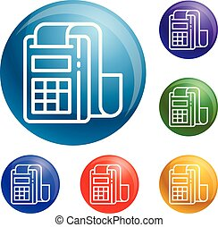 Pay device icons set vector