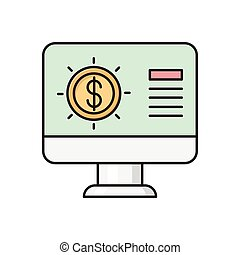 pay  flat color icon