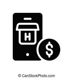 pay  glyph flat icon