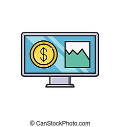 pay line flat icon