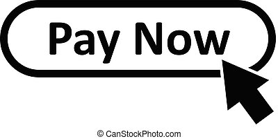 pay now icon on white background. flat style. pay now button for your web site design, logo, app, UI. pay now symbol.