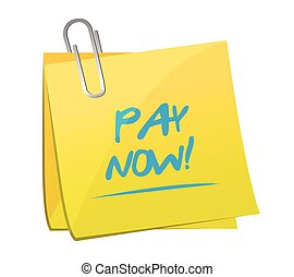 pay now memo post illustration design