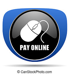 Pay online web icon