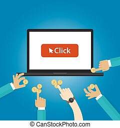 pay per click ads bidding auction buying traffics website PPC advertising