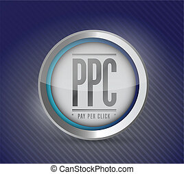 pay per click button illustration design