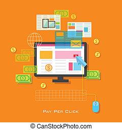 Pay per Click Concept - illustration of Pay per Click...