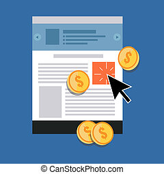 Pay Per Click concept. Flat design stylish. Isolated on...
