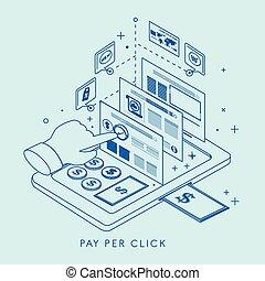 pay per click concept illustration