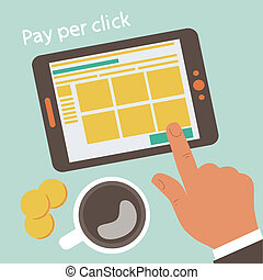 Pay per click concept illustration