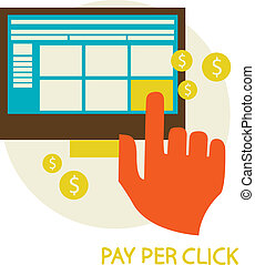 Pay per click concept illustration - Pay per click concept...