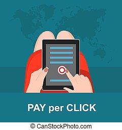 Pay per click concept,  vector illu