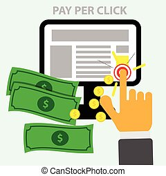 pay per click - vector image pay per click