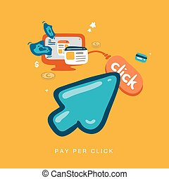 pay per click - hand drawn cursor pay per click