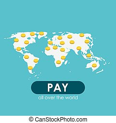 Pay Per Click Flat Concept for Web Marketing. Vector Illustratio