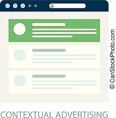 Pay Per Click icon, contextual advertising - ppc online marketing concept