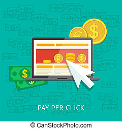 Pay per click illustration
