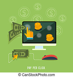 Pay per click internet advertising model when the ad is...