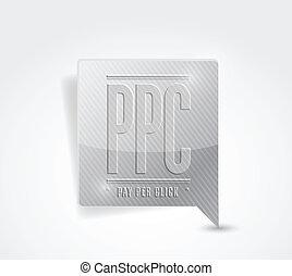 pay per click marker illustration design