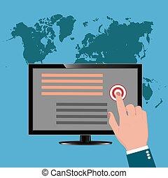 pay per click, monitor, vector