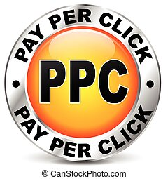 pay per click orange icon - illustration of chrome and...