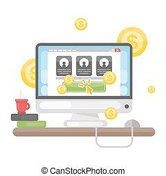 Pay per click. - Pay per click advertising concept...