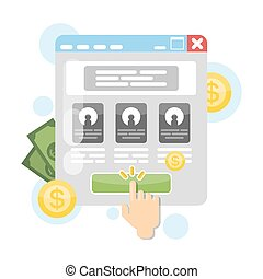 Pay per click. - Pay per click advertising concept...