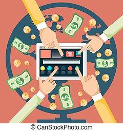 Pay Per Click - Pay per click internet advertising model...