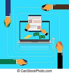 pay per click - Pay, per, click, internet, concept, vector...