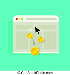 Pay per click PPC vector internet advertising concept, marketing