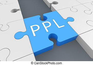 Pay per Lead - puzzle 3d render illustration