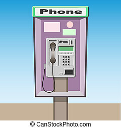 Pay Phone - A Vector Pay Phone Booth