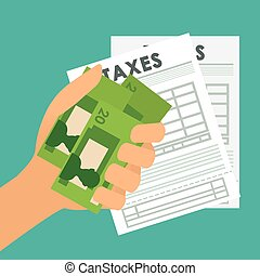 Pay taxes graphic design