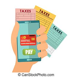 Pay taxes graphic design theme, vector illustration eps10